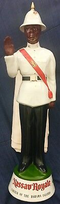 "Nassau Royale RARE Policeman Vintage Ceramic Decanter Bahama Islands 18"" Empty"