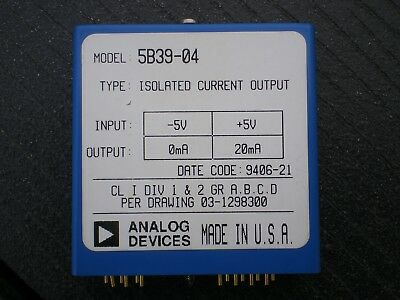 Analog Devices 5B39-04, Signalwandler, Datenerfassung, Messtechnik, Meßtechnik