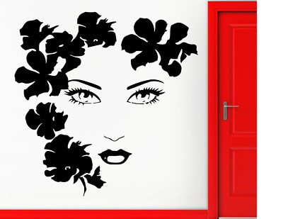 """Woman Face Vinyl Decal Sticker Size 6""""x6"""" HOME CAR LAPTOP CUSTOM SIZE UP TO 23"""""""