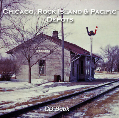Chicago, Rock Island & Pacific Railroad Depots & Structures CD book