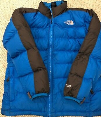 THE NORTH FACE Andes Blue Puffer 550 Down Jacket - Boys XL 18/20