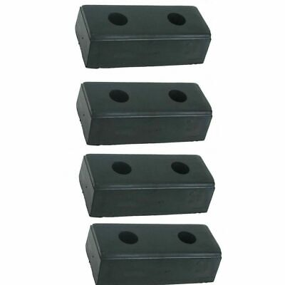 "LOADING DOCK BUMPER (4-pack) 10"" High Rubber Warehouse Truck Trailer Boat"