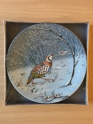 1970 Vintage 12 Days of Christmas New In Box Plate Haviland Limoges