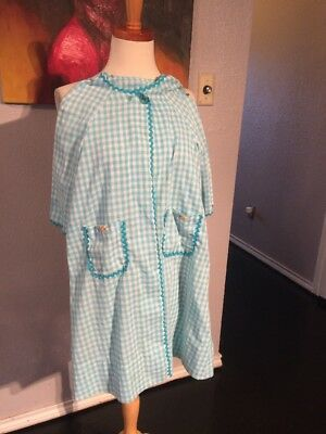 Vintage 1960s Girls Checkered Jammy Over Robe size 4T Unbranded