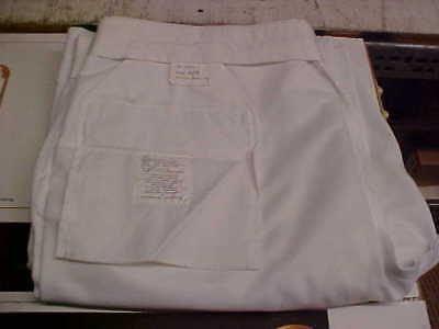 USN Navy Male Trousers Dress Whites Bell Bottoms 40R FREE SHIPPING loc#w122