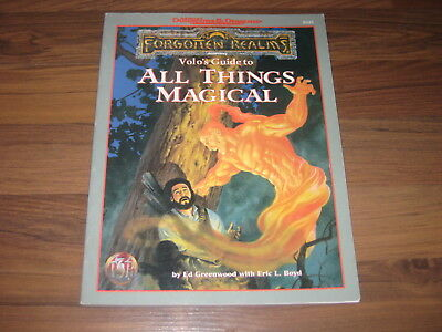 AD&D 2nd Edition Forgotten Realms Volos Guide To All Things Magical TSR 9535