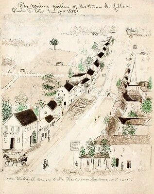 Lewis Miller New England Illustration Pen Ink Folk Art Print Christiansburg VA