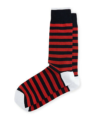 Neiman Marcus (MADE IN ITALY) Rugby Striped Socks  ($23) w/tax