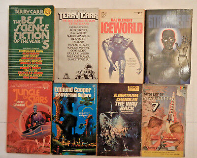 Lot of 8 science fiction paperback books by various authors
