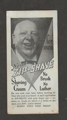 Vintaga Illustrated Advertising Card, Shaving Cream, NYC Street Finder Schedule