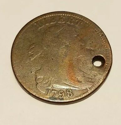 1798 large cent with hole