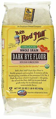 Bob's Red Mill Organic Dark Rye Flour - 22 oz - Case of 4