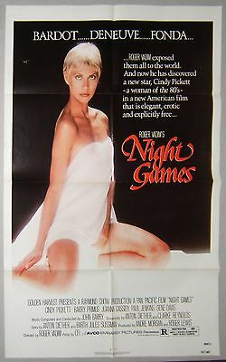 NIGHT GAMES 1sh 1980 with Roger Vadim's sexy new discovery Cindy Pickett