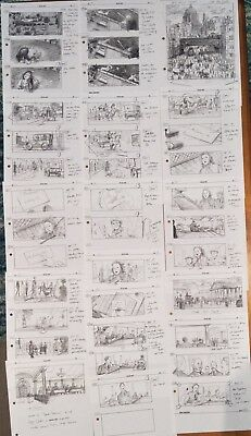Peter Pan Film Movie 16 Pages Prod Used Copy Storyboards Storyboard Art Dep't