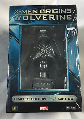 X-Men Origins Wolverine Limited Edition Blu-Ray W/ Mini Bust Gift Set Sealed