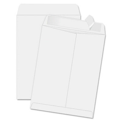 Quality Park  Redi Strip Catalog Envelope, 11 1/2 X 14 1/2, White, 100/Box