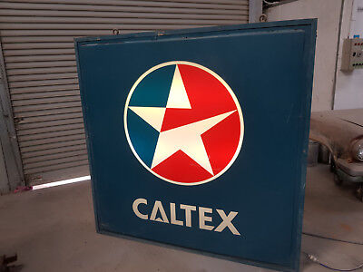 caltex fuel petrol oil light up sign garage collectable 6 foot high and wide