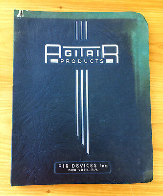 1940's AGITAIR AIR DEVICES CEILING INSTRUCTION INSTILATION MANUAL TEMPERATURE CO