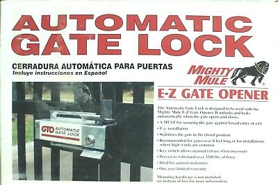 Mighty Mule Single Dual Swing Electric Security Automatic Gate Lock Opener SILVR