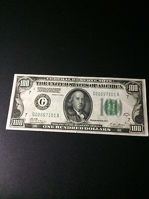 Series 1928A $100.00 Dollar Bill Circulated Condition
