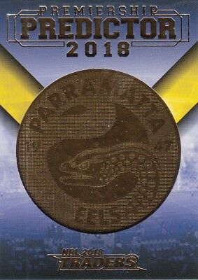2018 Nrl Traders Premiership Predictor Trading Card - Pp10 Parramatta Eels #127