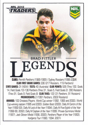 2018 Nrl Traders Legends Case Card - Cc1 Brad Fittler Sydney Roosters #067