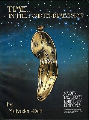1981 Salvador Dali Time In Fourth Dimension Art Gallery Vintage Print Ad