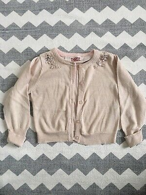 Girls Gold Rhinestone Cardigan - Excellent Condition Size 3 $1 NR So Cute !!