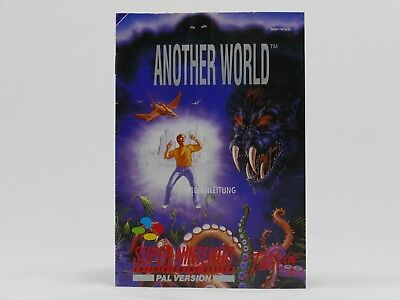 Another World Instructions/Manual/Booklet for Super Nintendo/SNES