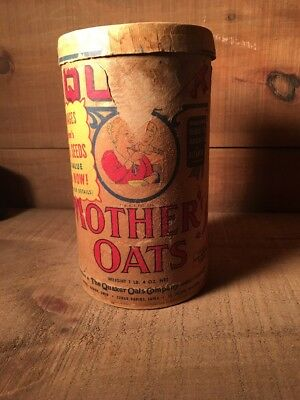 Vintage Quaker Oats Company Quick Mothers  Oats Container Free Seeds Offer