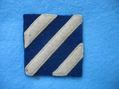 Original unused 1930's US Army 3rd Infantry Division wool on wool shoulder patch