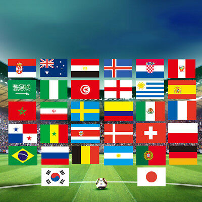 National Flag 2018 FIFA World Cup 32 Countries Football Fans Accessories Latest