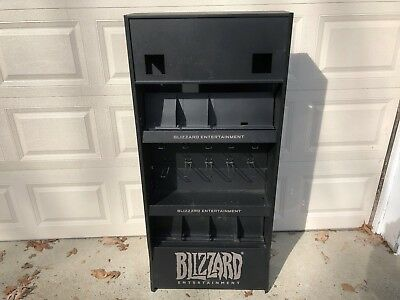 Blizzard Entertainment Store Display Metal Rack Video Game Systems