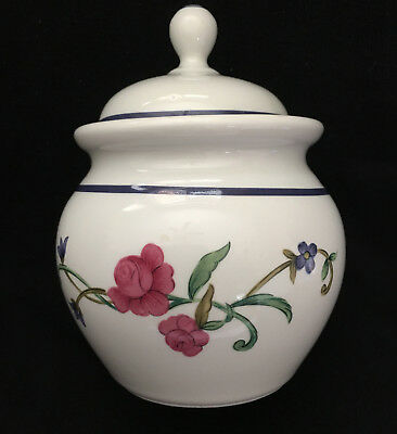 """LENOX-CASUAL IMAGES  """"ROSE GARDEN"""" Sugar Bowl With Lid"""