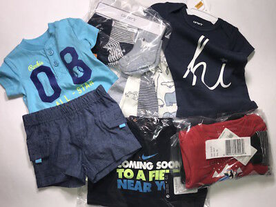 13 pc Lot Baby Boy Size Newborn 0-3 Months Nike Carters Baby Shower Gift NWT