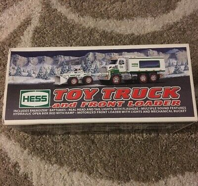 Hess Toy Truck And Front Loader Lights Sound Flashers Mechanical Bucket