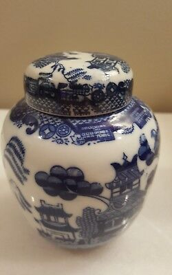 Small Blue & White Vintage Ginger Jar, Japan