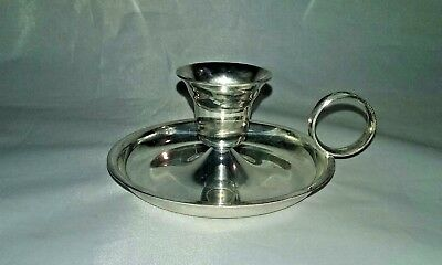 Vintage candle holder taper silver plate by Leonard