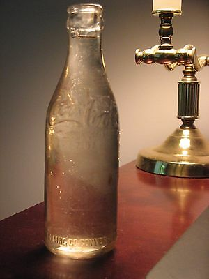 Rare, Coca-Cola Bottle, Conyers, Georgia, 7 oz., Straight Sided Clear Glass 1908