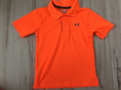 Boys Toddler large Under Armour Collared Shirt Polo Orange 3T