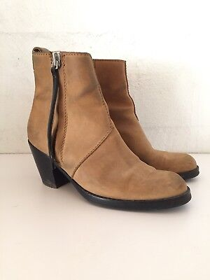 Acne Studio Pistol boots sand nubuck leather 37 / 7.5