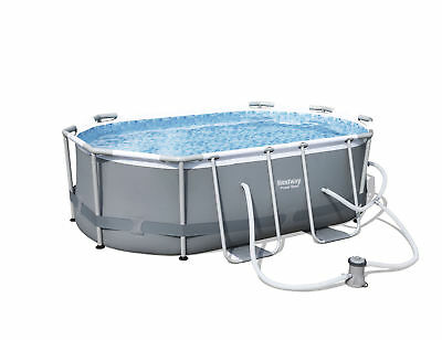 "Bestway 9'10"" x 6'6"" x 33"" Power Steel Oval Frame Above Ground Swimming Pool+*"