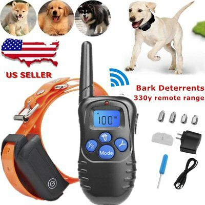 US Waterproof Pet Dog Training Collar Rechargeable Electric Shock LCD Display S2