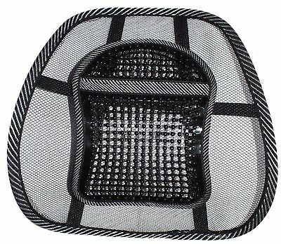 Black Mesh Lower Back Lumbar Support Chairs for Office Work In Car Seat Posture
