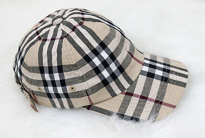 cb3de62cbfc BURBERRY LONDON BASEBALL Cap Cotton Hat Nova Check One Size - £80.00 ...