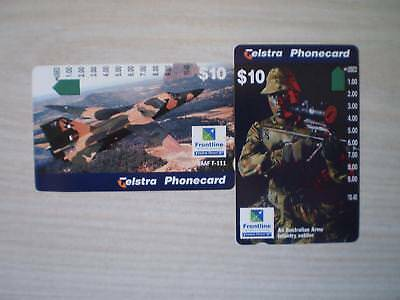 Telstra  Frontline $10 Soldier And Plane 1 Hole Etc