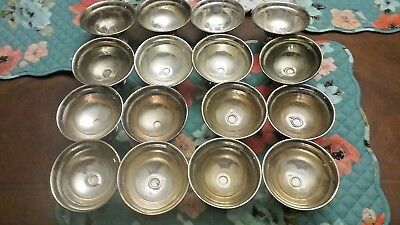 Sterling silver reinforced with cement desert cups. Lot of 16. 69 gram each
