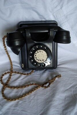 ATE Company Bakelite Wall Telephone Untested for Spares/Repair