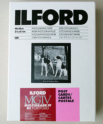 Ilford Multigrade IVRC Portfolio Gloss Black & White Postcards 10x15cm 100 sheet
