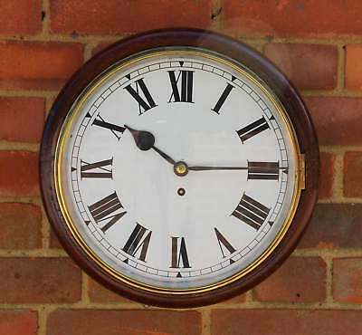 Oak English dial wall clock, chain fusee movement, St Giles Hospital c1930, GWO